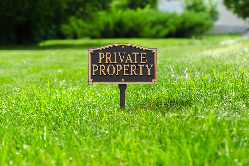 Private Property Statement Plaque Wall Lawn Whitehall Products